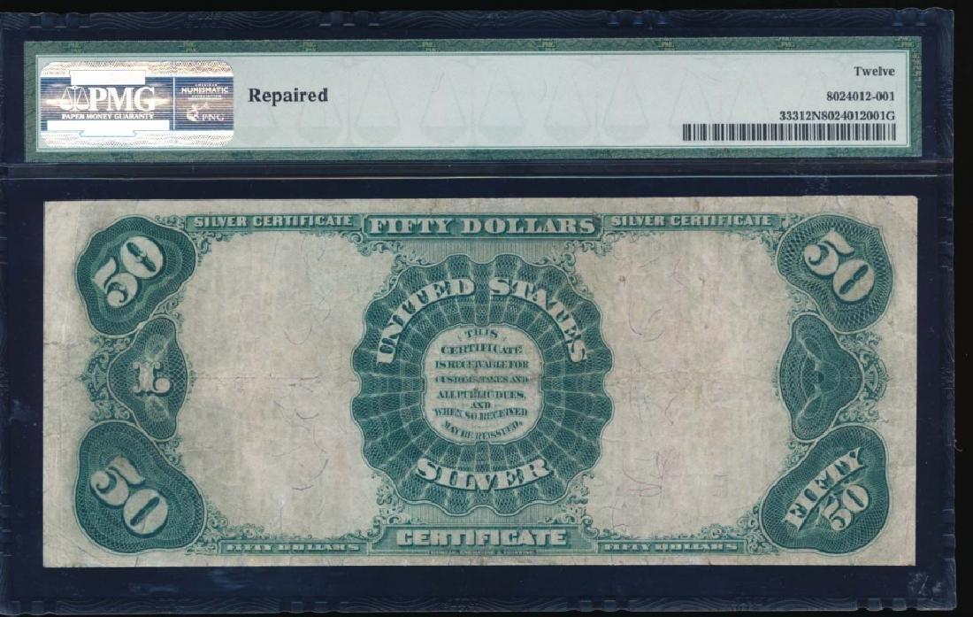 1891 $50 Silver Certificate PMG 12NET Fr. 333 - 2