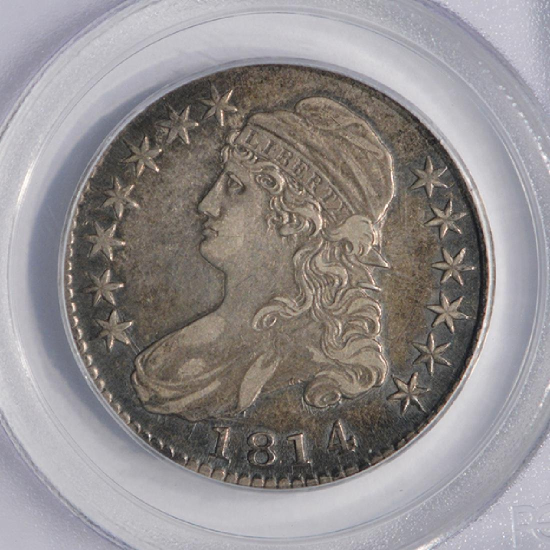 1814 Capped Bust Half Dollar Coin PCGS XF40 - 3
