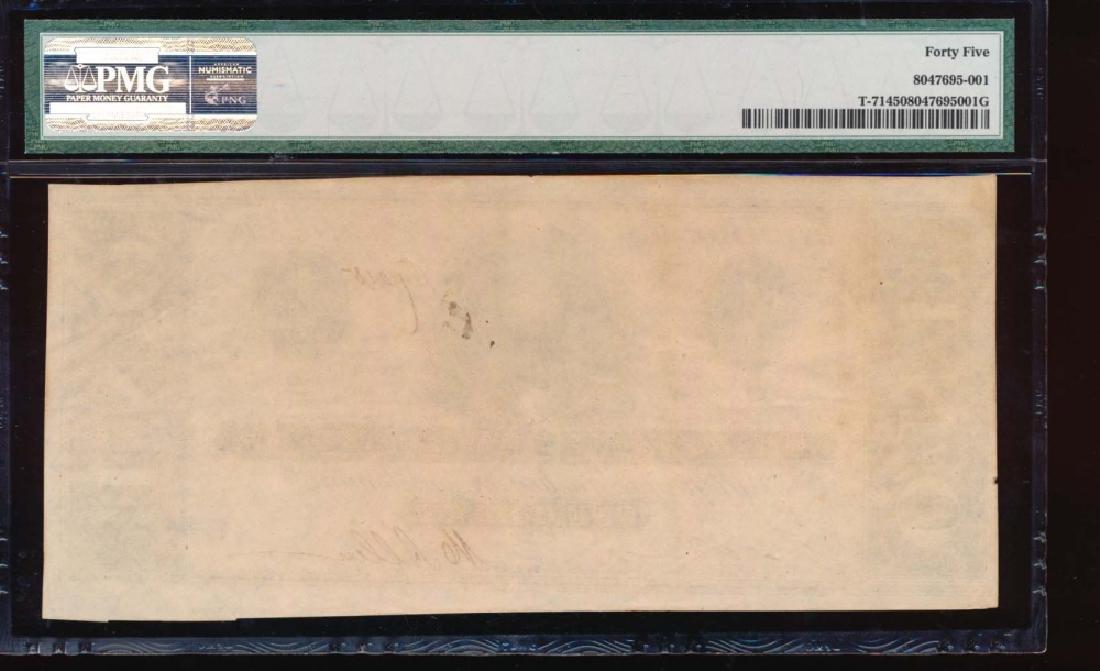 1864 $1 Confederate States of America Note PMG 45 - 2