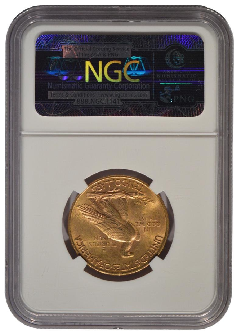 1911 $10 Liberty Head Eagle Gold Coin NGC MS62 - 2
