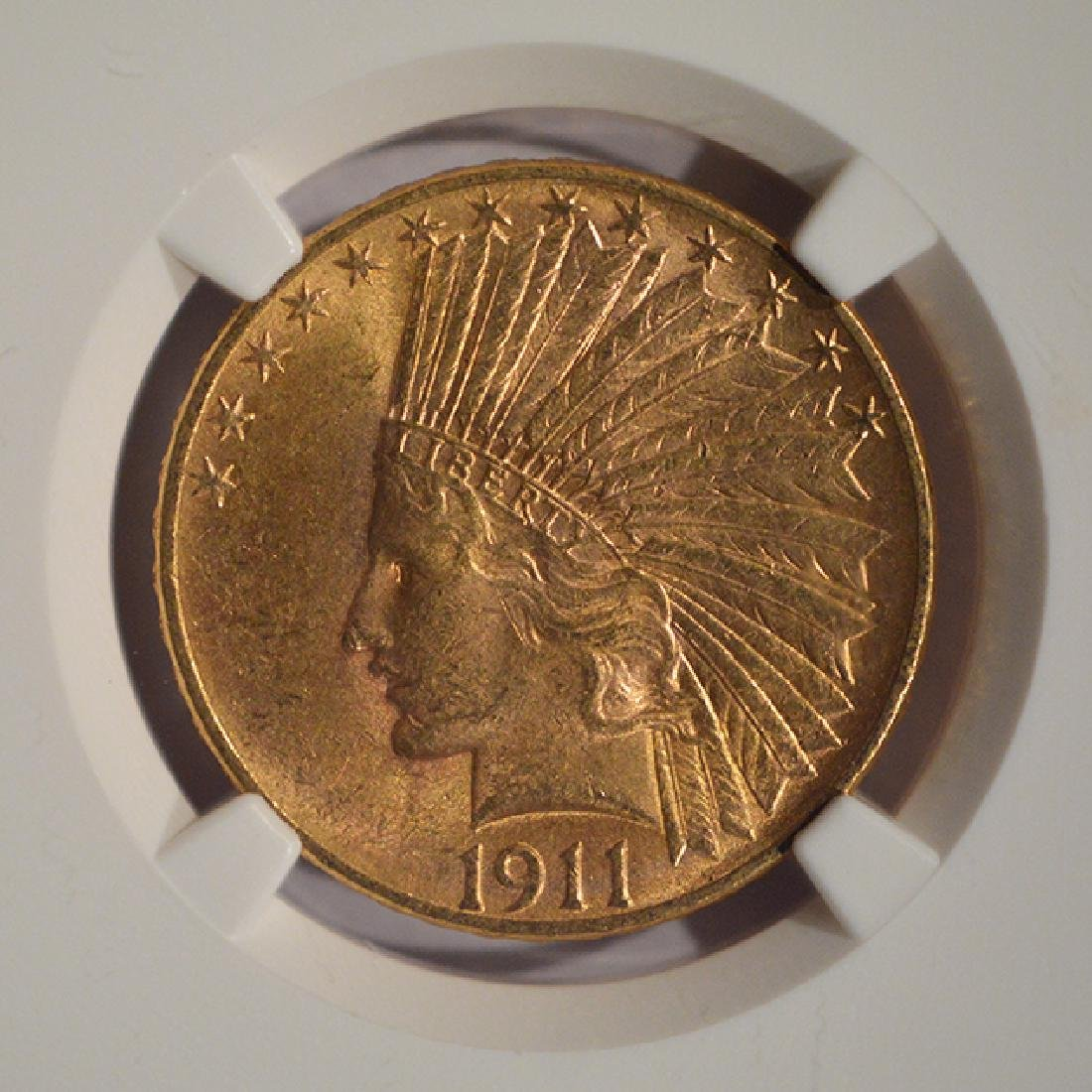 1911 $10 Liberty Head Eagle Gold Coin NGC MS62 - 3