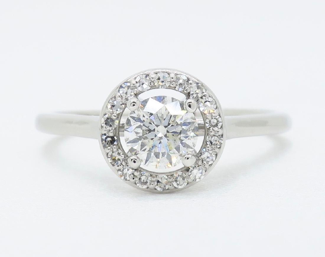 14KT White Gold 0.50ct EGL Cert Diamond Ring