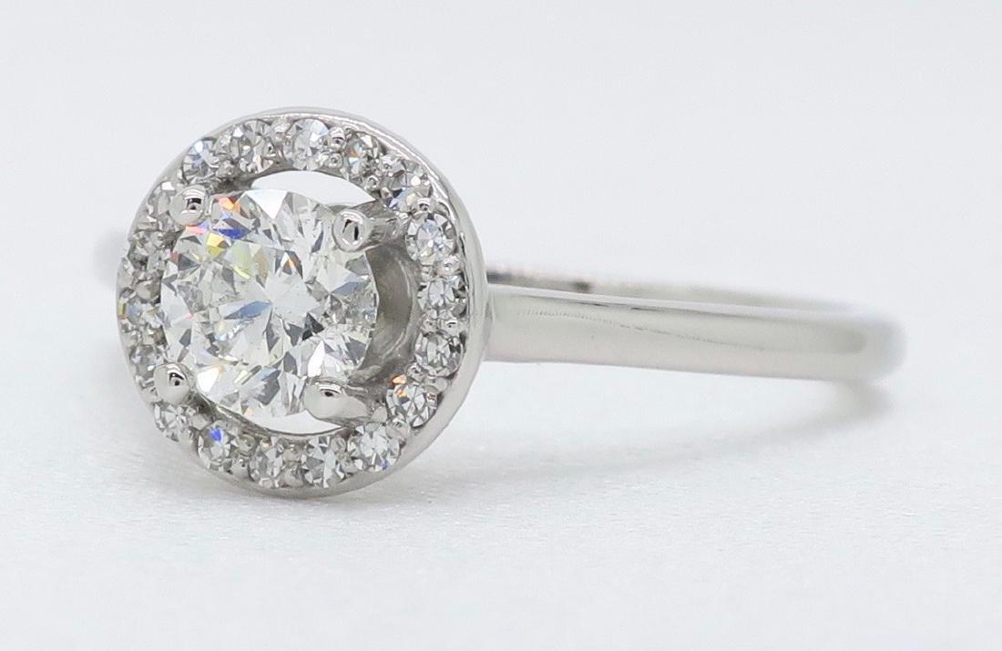 14KT White Gold 0.50ct EGL Cert Diamond Ring - 2