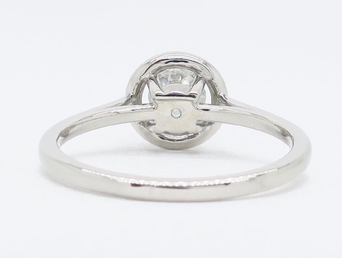 14KT White Gold 0.50ct EGL Cert Diamond Ring - 4