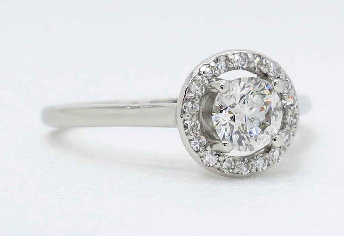 14KT White Gold 0.50ct EGL Cert Diamond Ring - 6