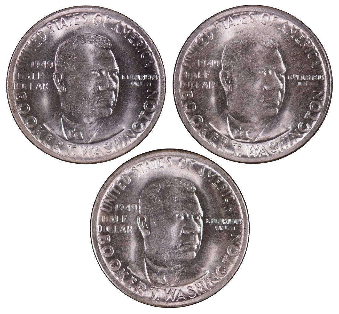 1949-P-D-S Booker T Washington Half Dollars