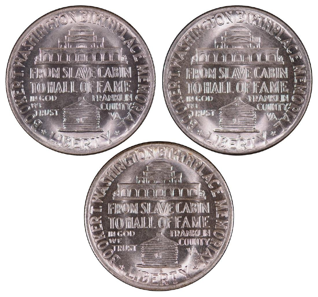 1949-P-D-S Booker T Washington Half Dollars - 2