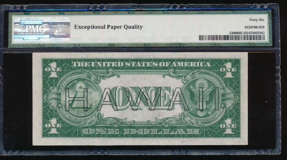 1935A $1 Hawaii Silver Certificate PMG 66EPQ - 2