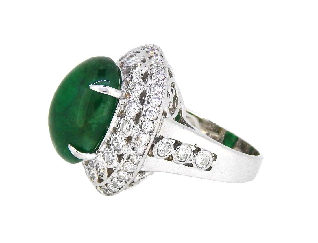 18KT White Gold 12.20ct GIA Cert Emerald and Diamond - 2