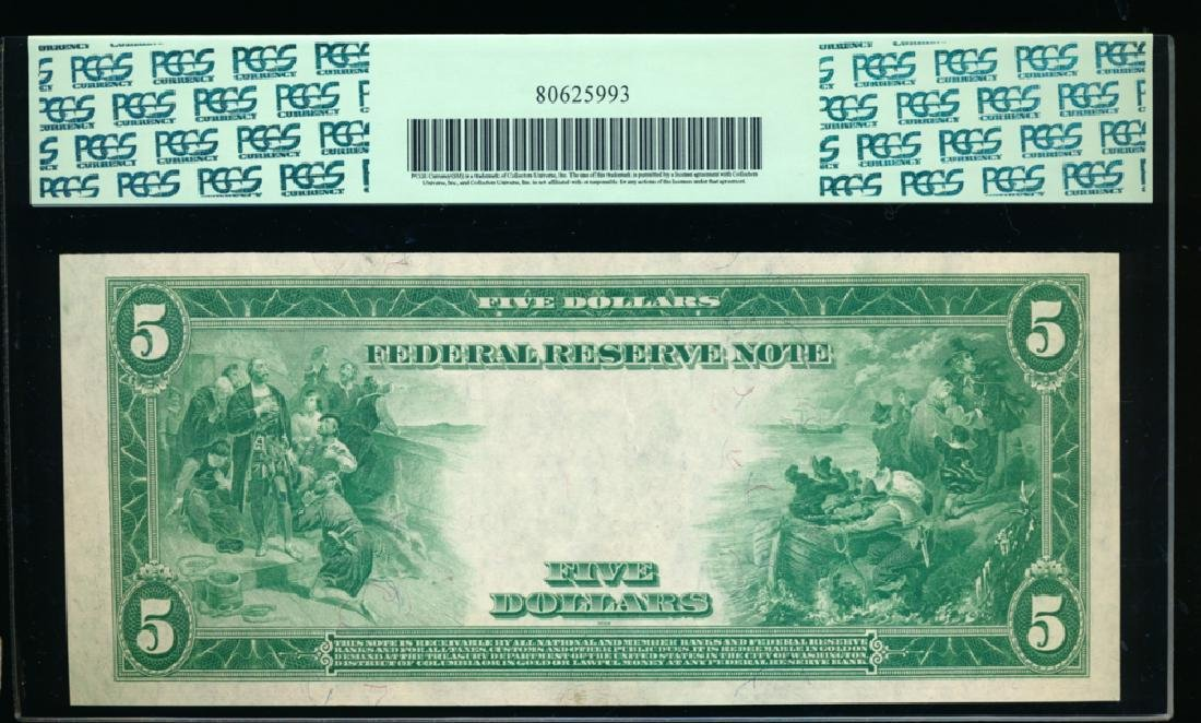 1914 $5 Large Cleveland Federal Reserve Note PCGS 64PPQ - 2