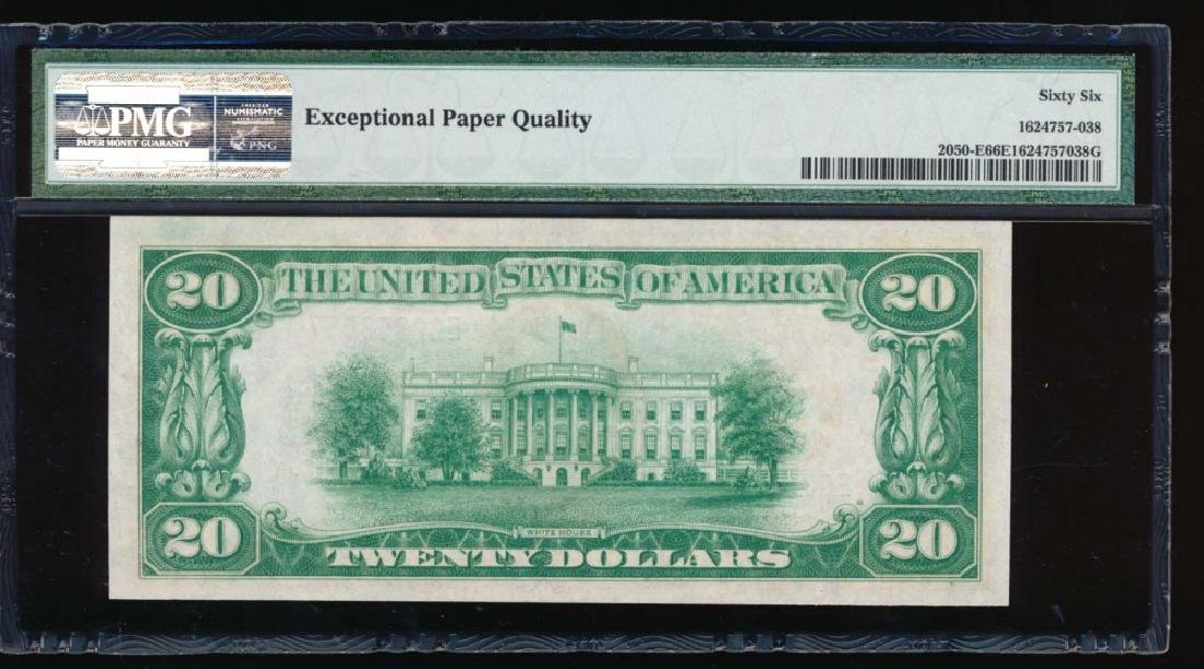 1928 $20 Richmond Federal Reserve Note PMG 66EPQ - 2