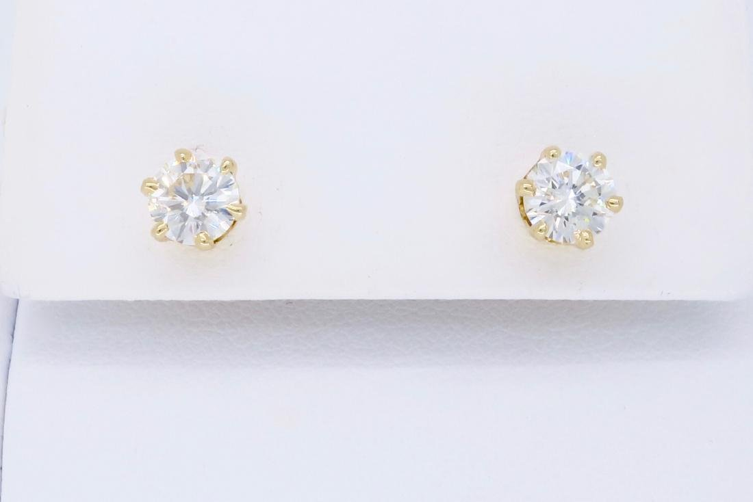 14KT Yellow Gold 1.00ctw Diamond Earrings