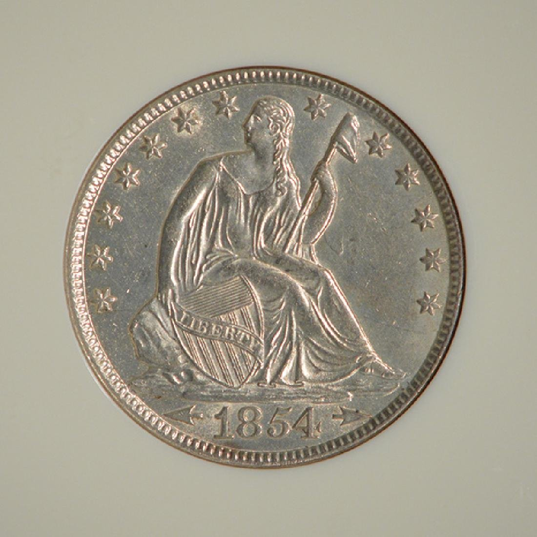 1854-O Seated Liberty Half Dollar Coin NGC MS62 - 3