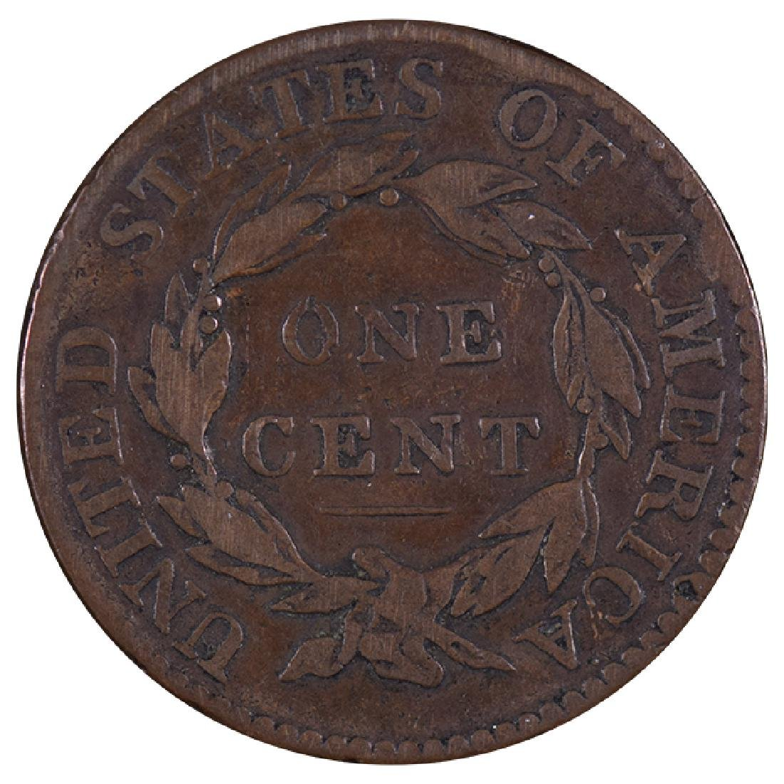 1819/8 Coronet Large Cent Coin - 2