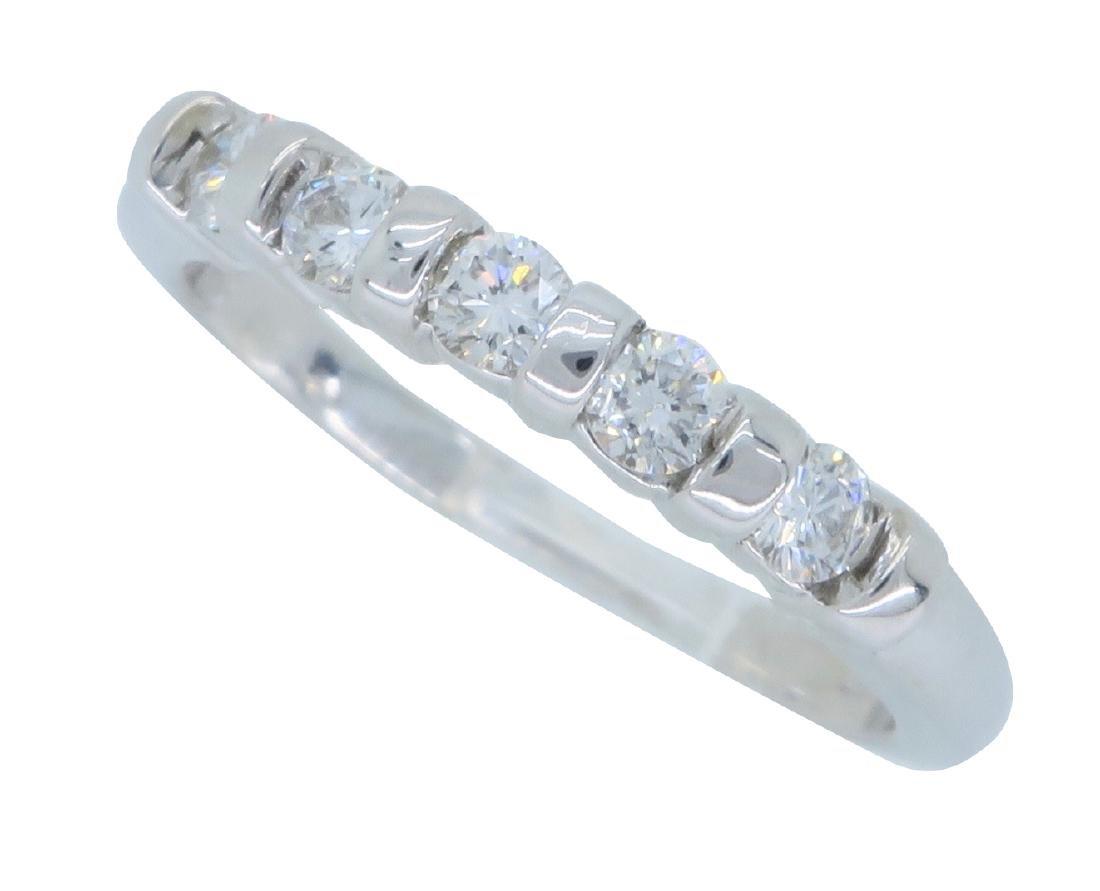 14KT White Gold 0.25ctw Diamond Ring - 2