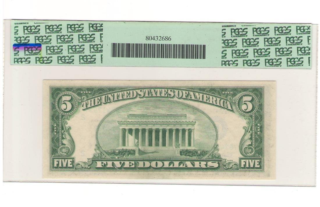 1950E $5 New York Federal Reserve Note PCGS 65PPQ - 2