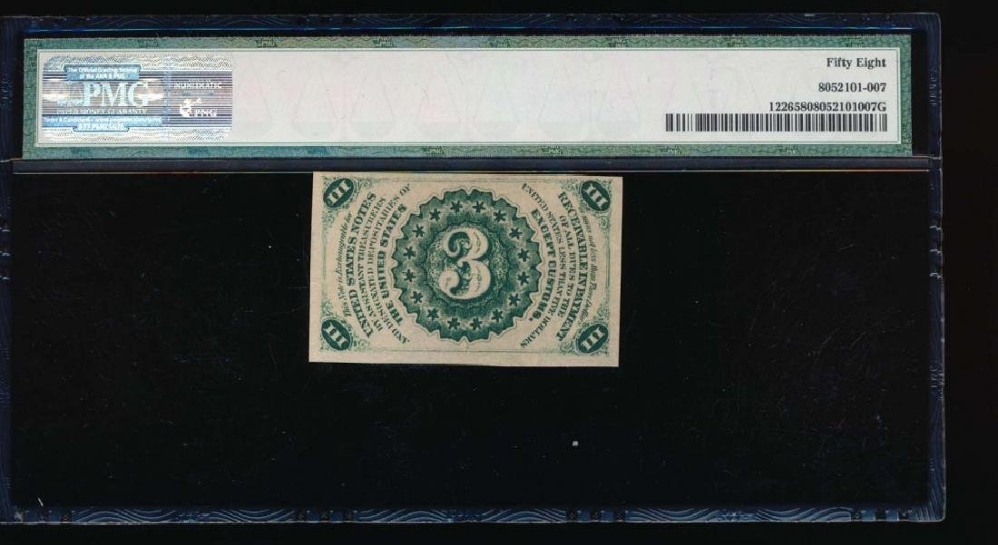 3 Cent Fractional Currency Note PMG 58 - 2