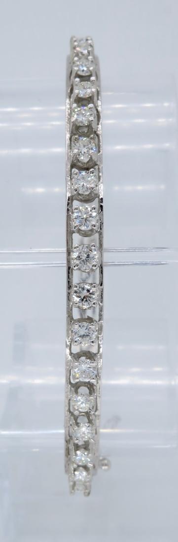 14KT White Gold 1.10ctw Diamond Bracelet - 6