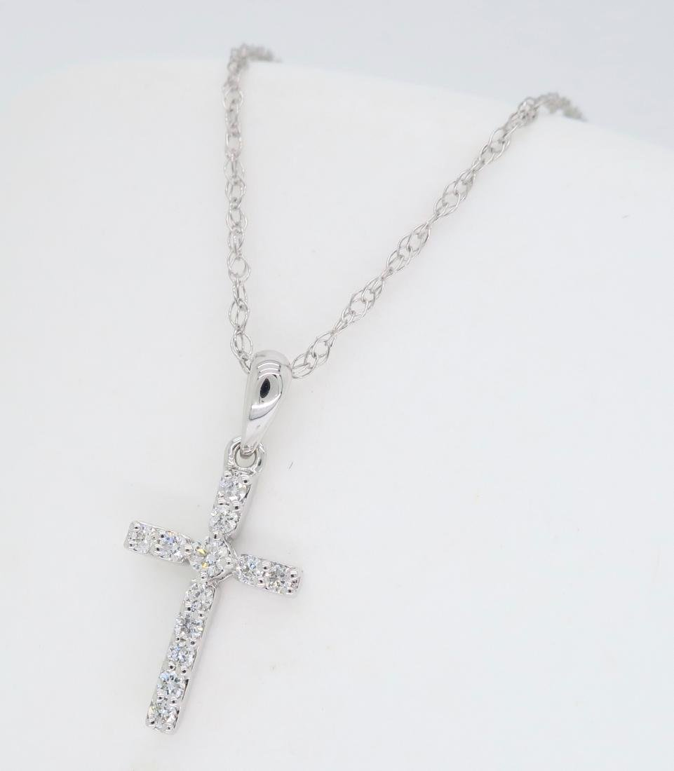 14KT White Gold 0.25ctw Diamond Pendant with Chain - 2