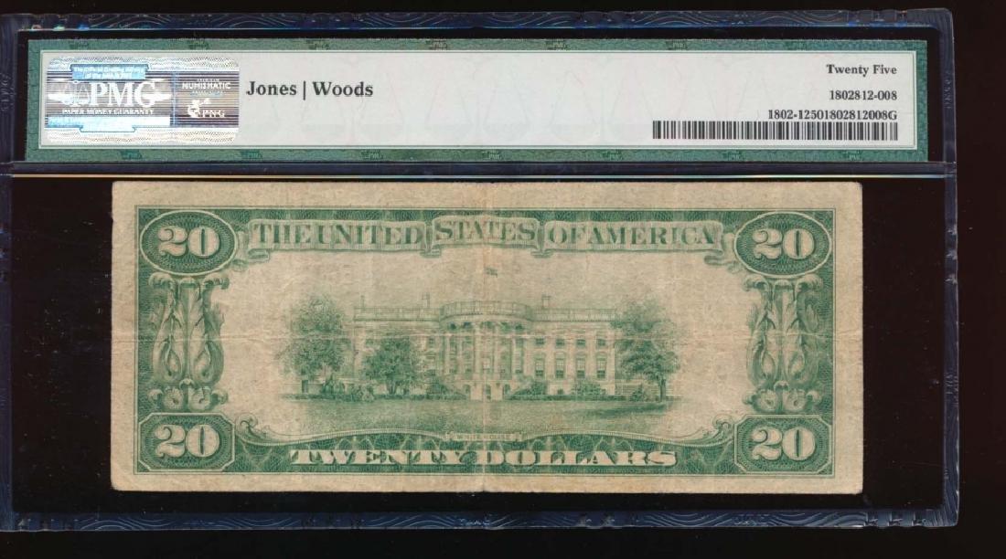 1929 $20 Northwestern Nation Bank Note PMG 25 - 2