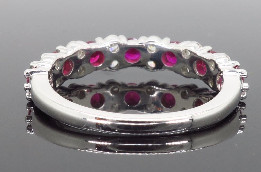 14KT White Gold Ruby and Diamond Ring - 5