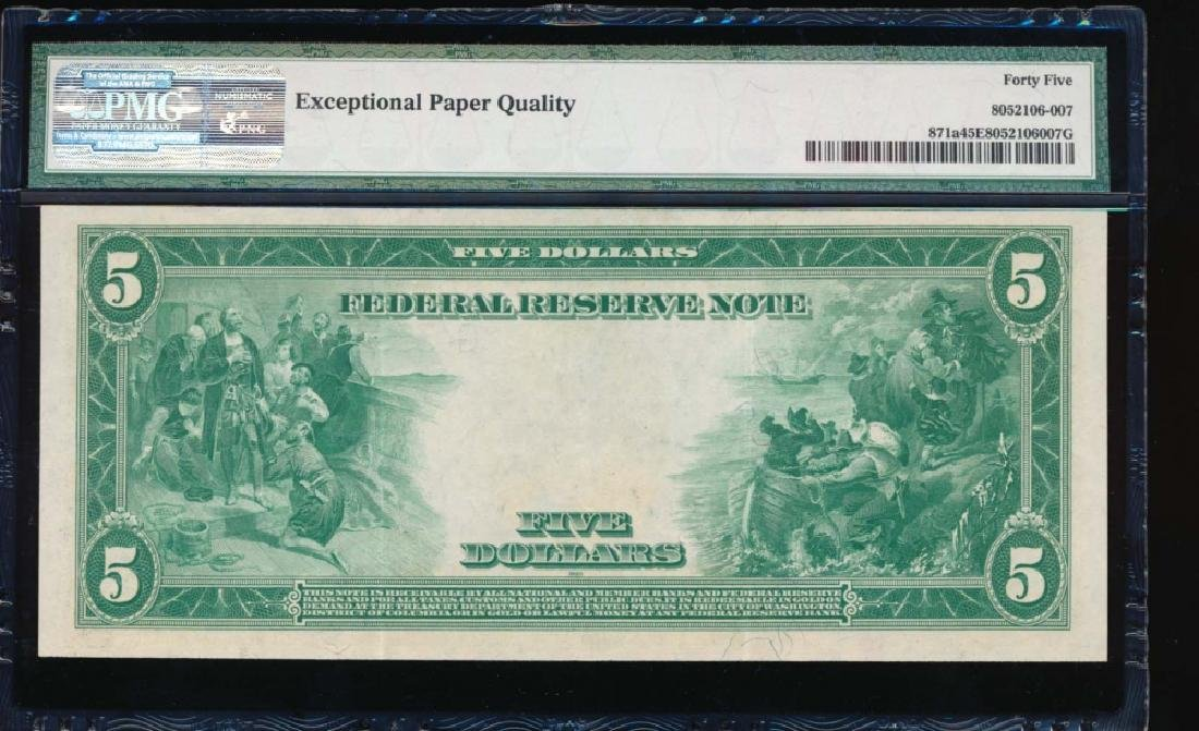 1914 $5 Chicago Federal Reserve Note PMG 45EPQ - 2