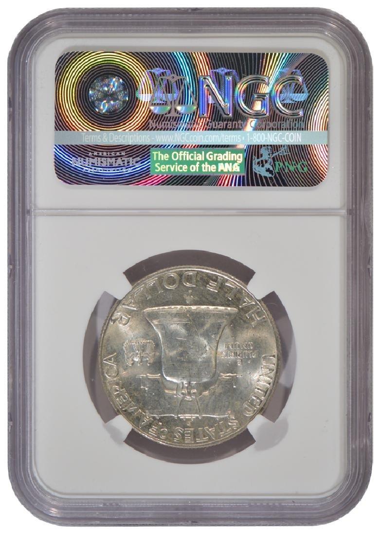 1949-D Franklin Half Dollar Coin NGC MS63 - 2