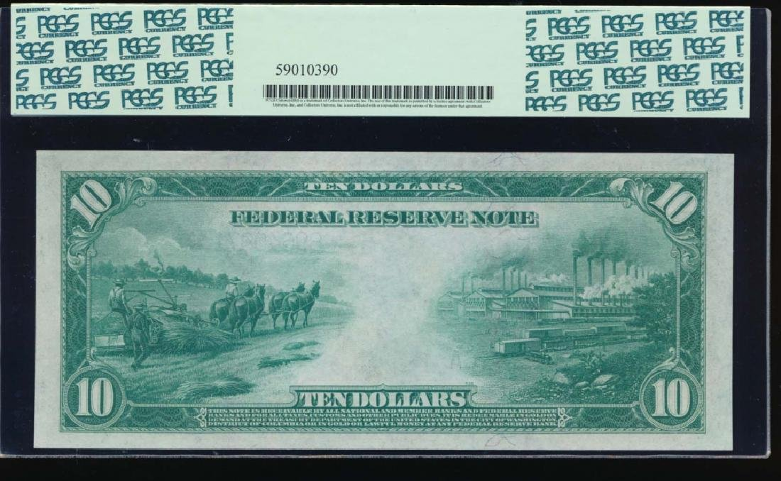 1914 $10 New York Federal Reserve Note PCGS 67PPQ - 2