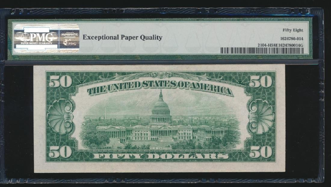 1934B $50 St Louis Federal Reserve Note PMG 58EPQ - 2