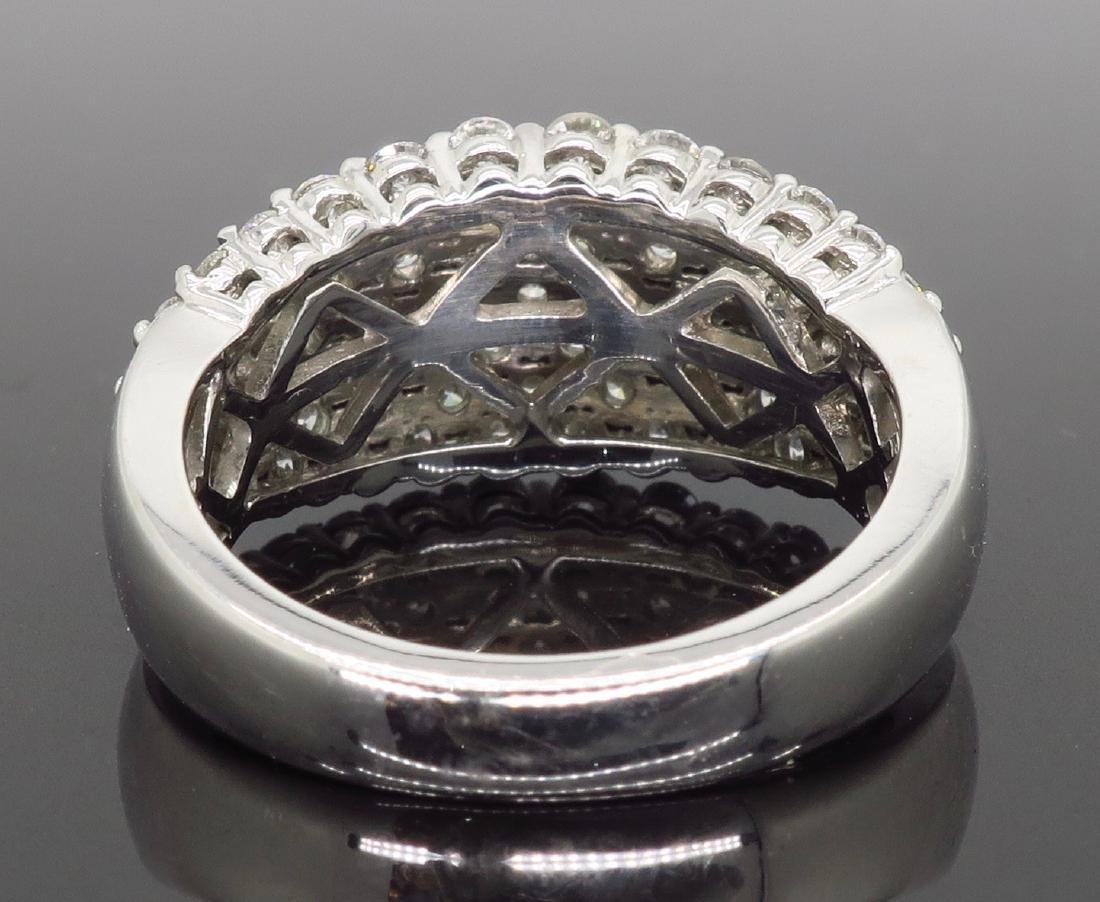 14KT White Gold 1.60ctw Diamond Ring - 4