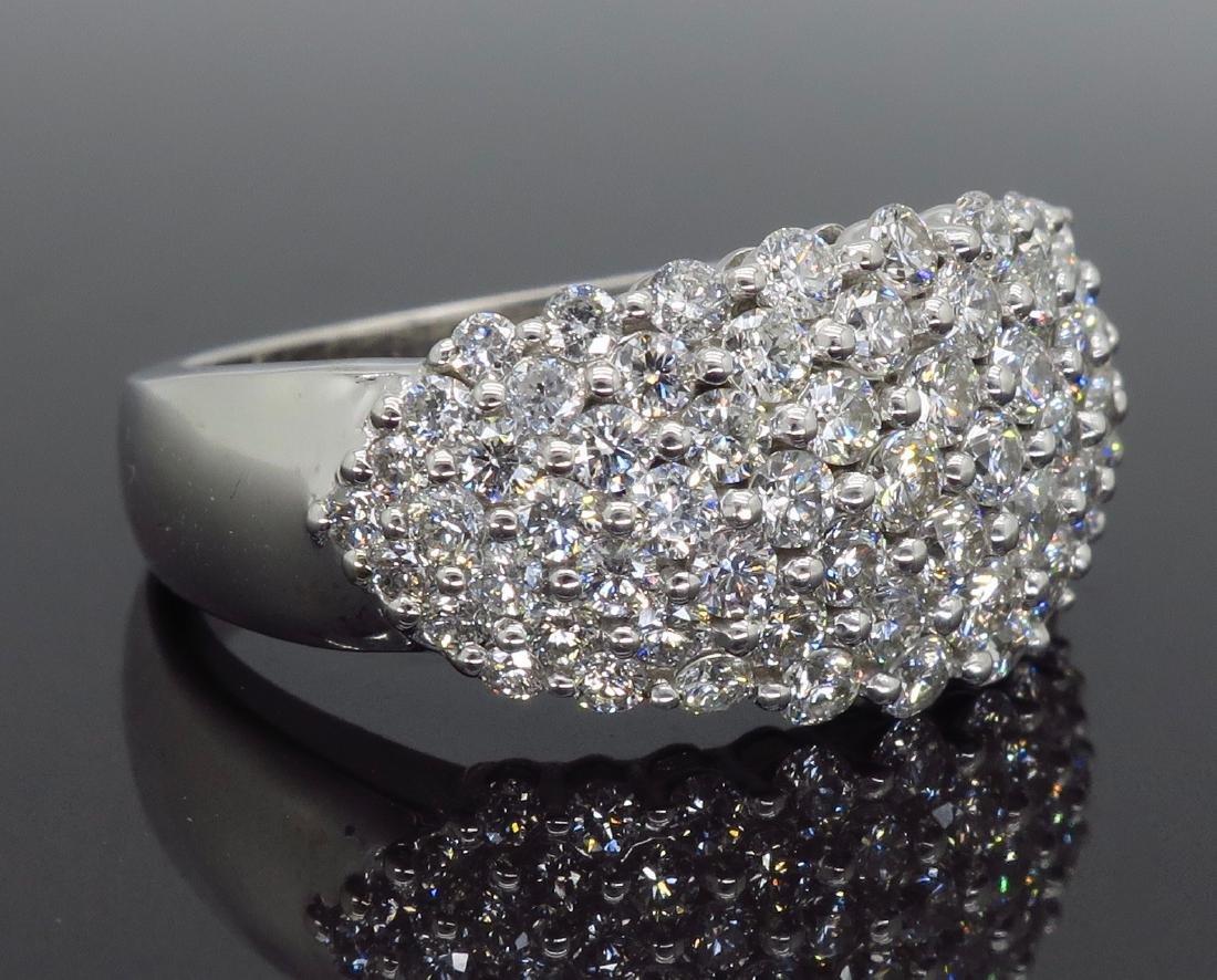 14KT White Gold 1.60ctw Diamond Ring - 5