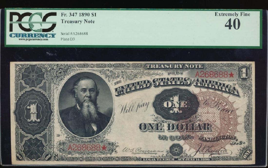 1890 $1 Treasury Note PCGS 40