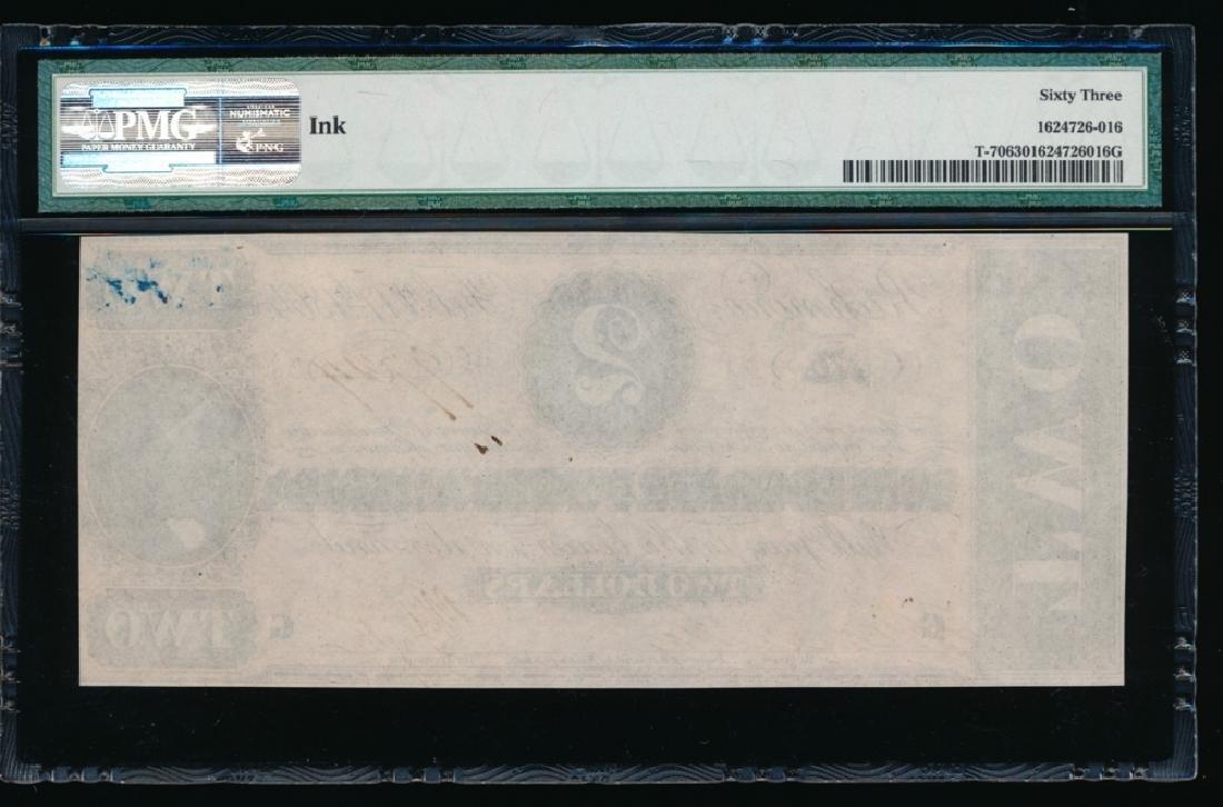 1864 $2 Confederate States of America Note PMG 63 - 2