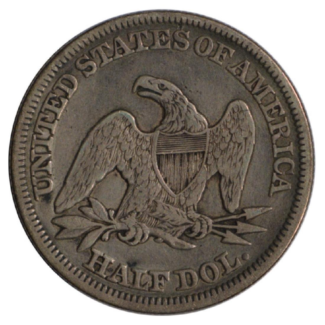 1858 Seated Liberty Half Dollar Coin - 2