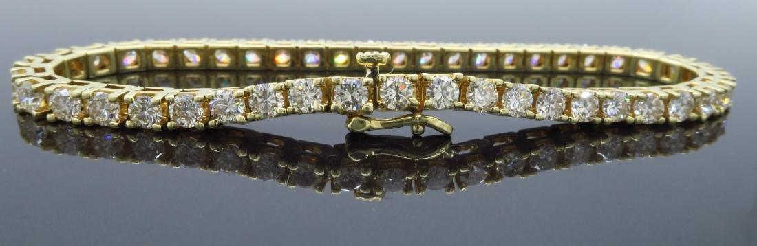 14KT Yellow Gold 6.00ctw Diamond Tennis Bracelet - 2