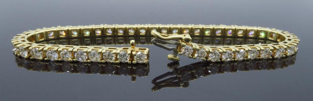 14KT Yellow Gold 6.00ctw Diamond Tennis Bracelet - 3