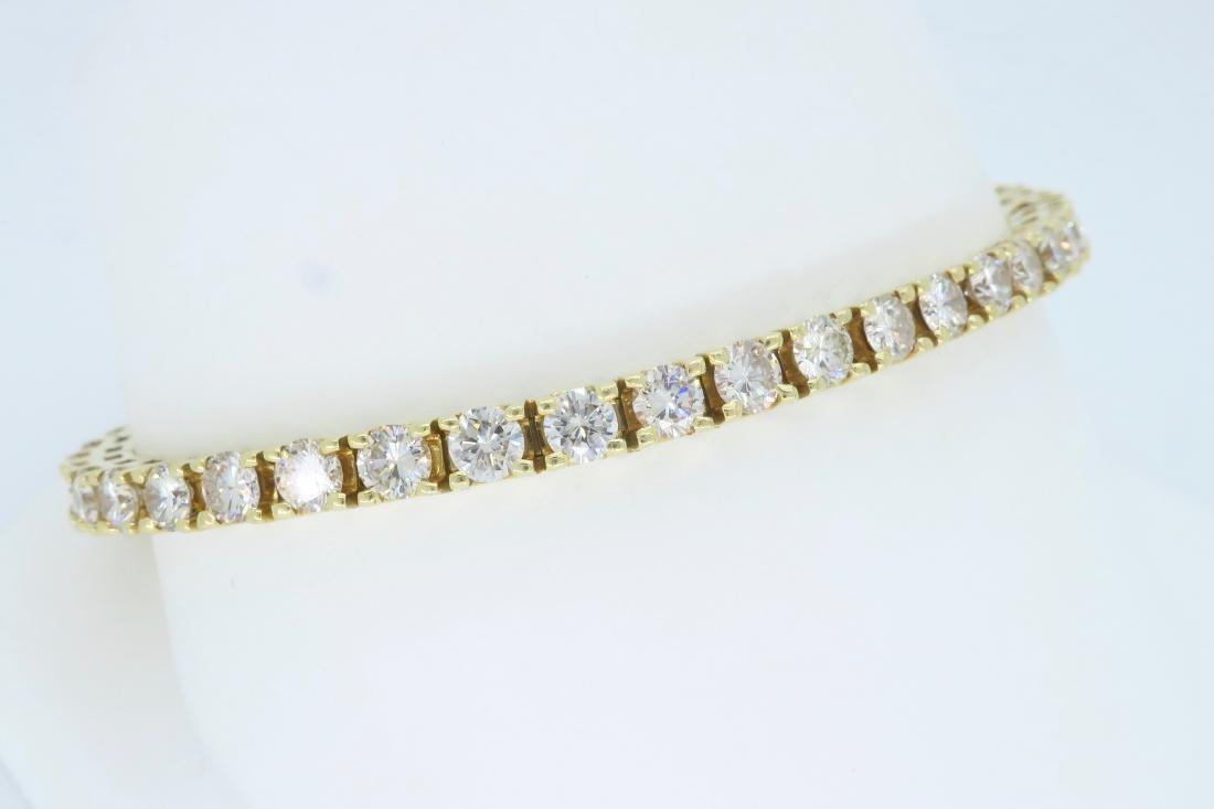 14KT Yellow Gold 6.00ctw Diamond Tennis Bracelet - 6