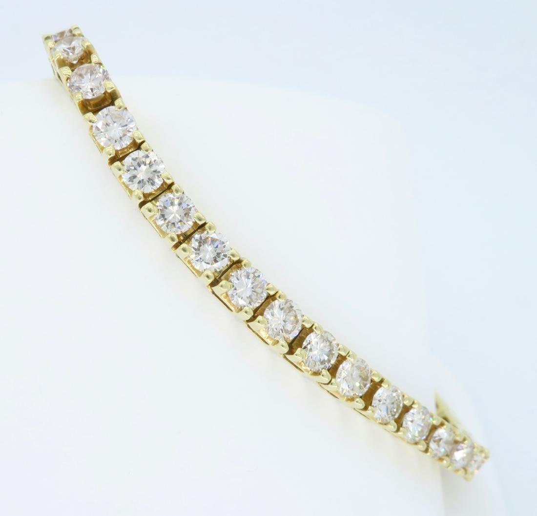 14KT Yellow Gold 6.00ctw Diamond Tennis Bracelet - 7