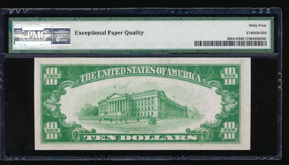 1934 $10 Cleveland Federal Reserve Note PMG 64EPQ - 2