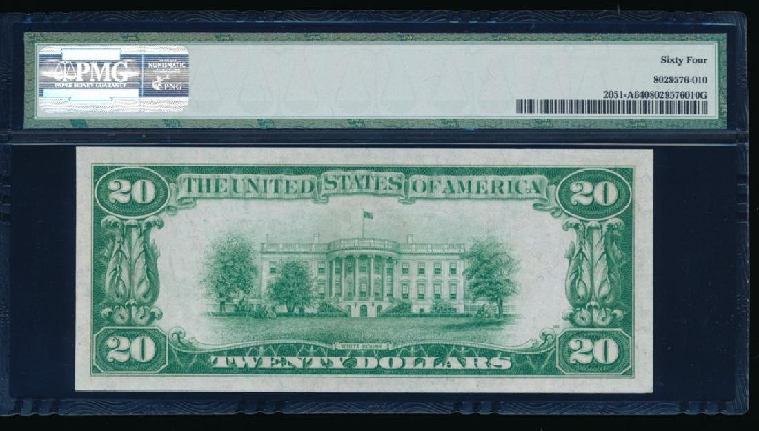 1928A $20 Boston Federal Reserve Note PMG 64 - 2