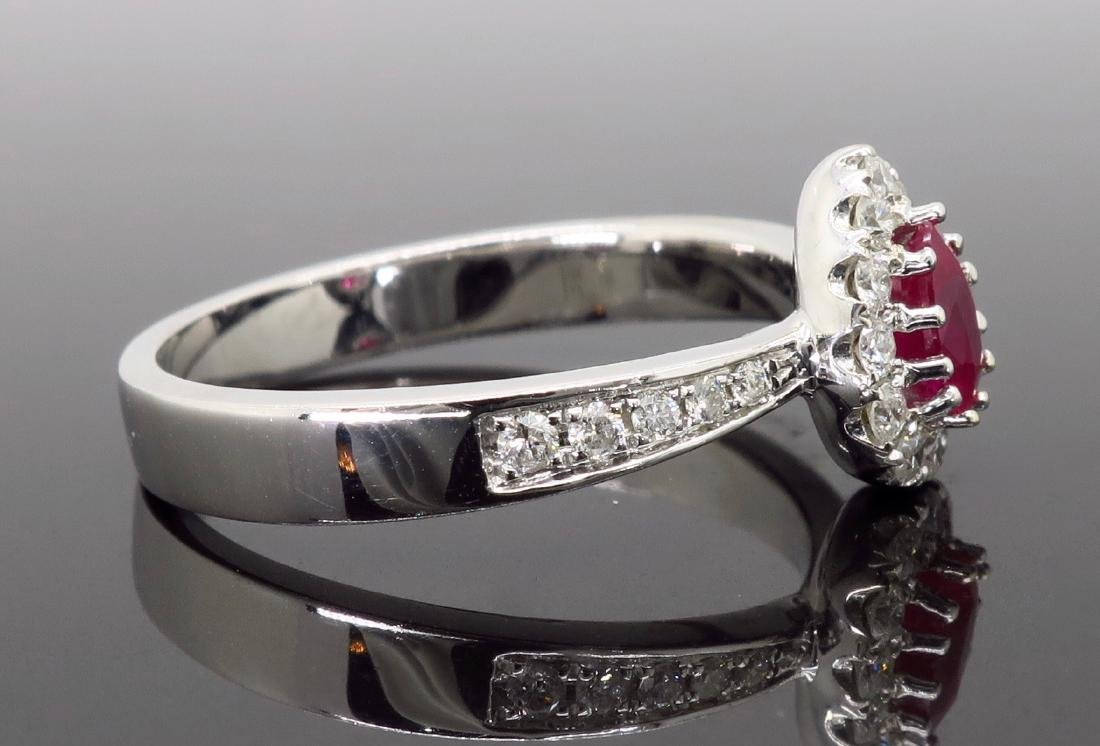 14KT White Gold 0.40ctw Ruby and Diamond Ring - 4