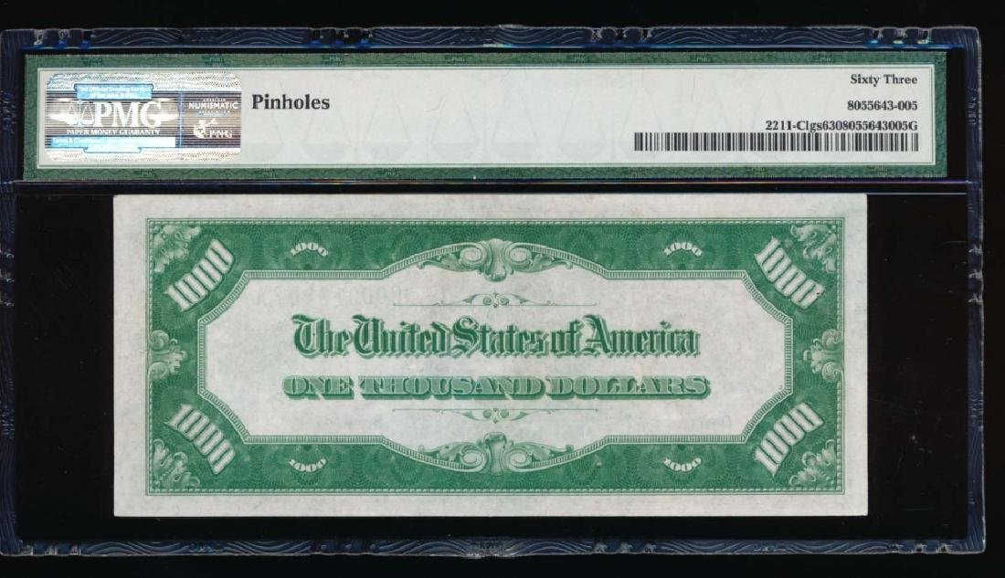 1934 $1000 Philadelphia Federal Reserve Note PMG 63 - 2