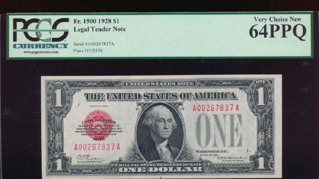 1928 $1 Legal Tender Note PCGS 64PPQ