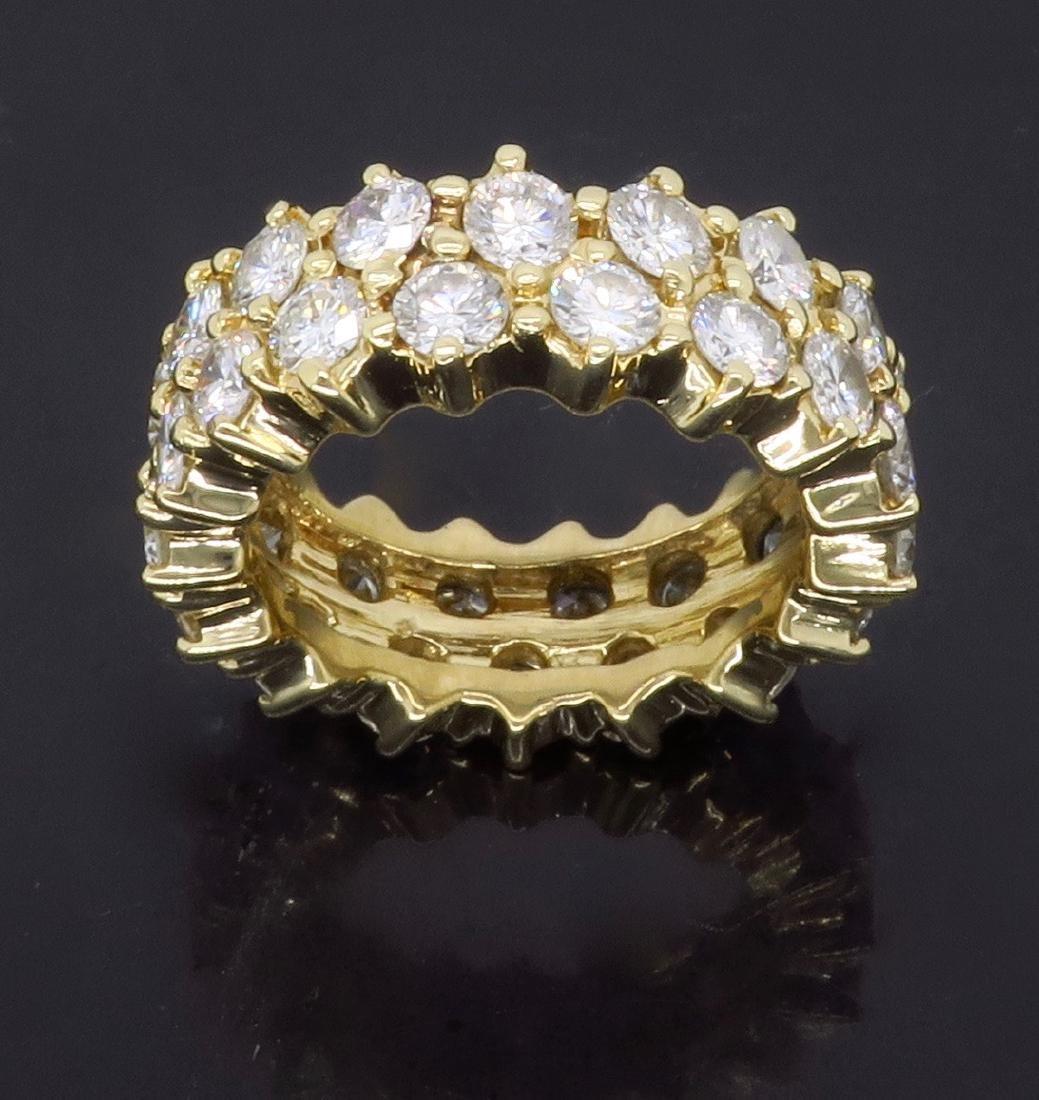 14KT Yellow Gold 4.50ctw Diamond Ring - 2