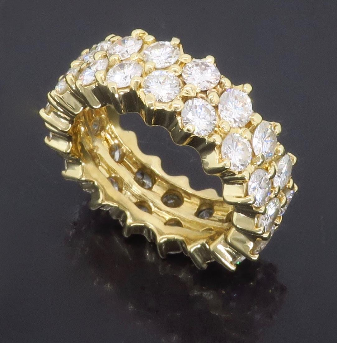 14KT Yellow Gold 4.50ctw Diamond Ring - 3