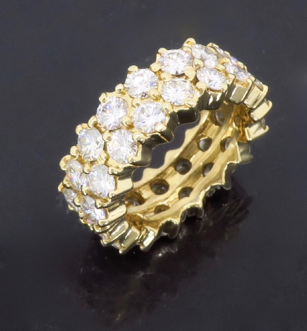 14KT Yellow Gold 4.50ctw Diamond Ring - 4