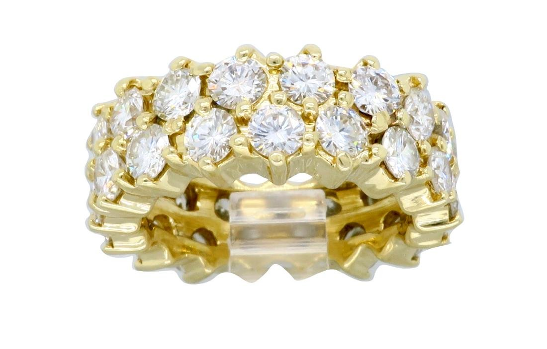 14KT Yellow Gold 4.50ctw Diamond Ring - 5