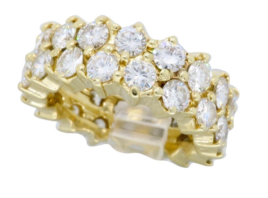 14KT Yellow Gold 4.50ctw Diamond Ring - 6