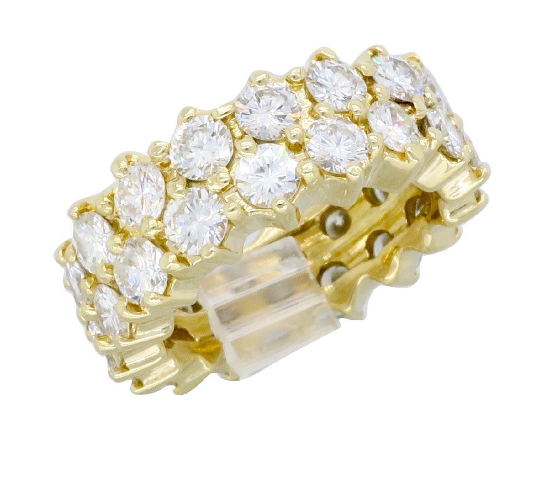 14KT Yellow Gold 4.50ctw Diamond Ring - 7
