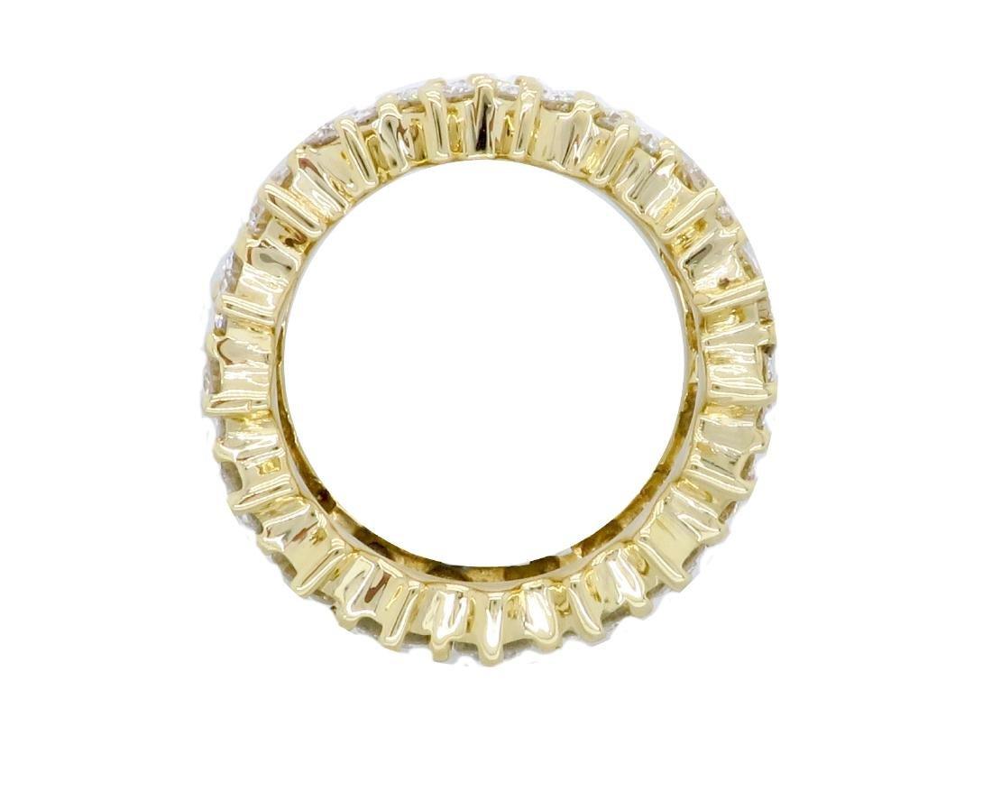 14KT Yellow Gold 4.50ctw Diamond Ring - 8